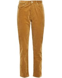 JOSEPH Cropped Cotton-blend Corduroy Straight-leg Trousers Camel - Natural