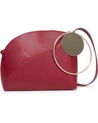 ROKSANDA Textured-leather Shoulder Bag Plum - Multicolour