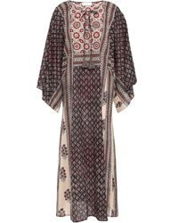 Zimmermann Printed Cotton Kaftan Black