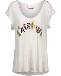 Camilla - L'afrique Bead-embellished Jersey T-shirt - Lyst