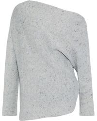 69099b5f4c Narciso Rodriguez - Woman Off-the-shoulder Marled Wool And Cashmere-blend  Sweater