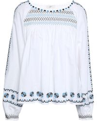 Joie - Embroidered Cotton Tunic - Lyst