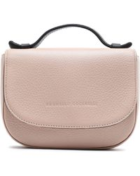 Brunello Cucinelli - Bead-embellished Textured-leather Tote Pastel Pink - Lyst