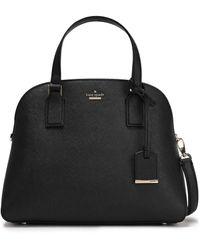 Kate Spade Cameron Street Lottie Textured-leather Shoulder Bag Black