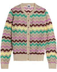 M Missoni - Striped Cotton-blend Open-knit Cardigan - Lyst