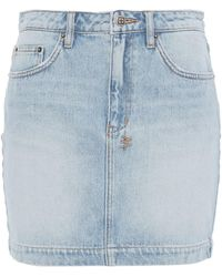 Ksubi Faded Denim Mini Skirt - Blue