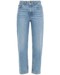 Maje Cropped High-rise Straight-leg Jeans - Blue