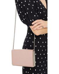 Serapian Embellished Leather Shoulder Bag - Pink