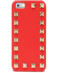 Valentino - Rockstud Leather Iphone 5/5s/se Case Tomato Red - Lyst