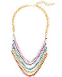 Elizabeth Cole Torrance Hematite And 24-karat Gold-plated Crystal Necklace Multicolour - Metallic