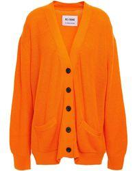 RE/DONE Oversized Knitted Cardigan - Orange