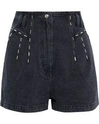 IRO Barra jeansshorts mit nieten - Schwarz