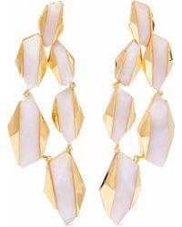 Noir Jewelry - Woman 14-karat Gold-plated Resin Earrings Off-white - Lyst