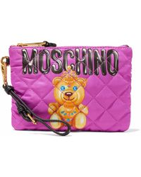 Moschino - Printed Quilted Twill Wristlet - Lyst