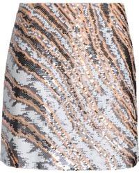 Roberto Cavalli - Sequined Silk Mini Skirt - Lyst
