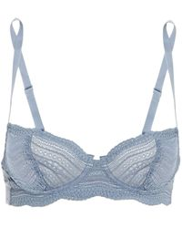 Cosabella Stretch-lace And Jersey Underwired Bra Slate Blue