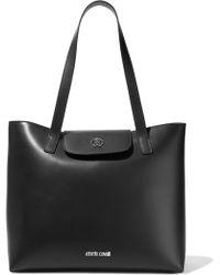 Roberto Cavalli Leather Tote Black