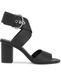 Rebecca Minkoff Valaree Leather Sandals Black