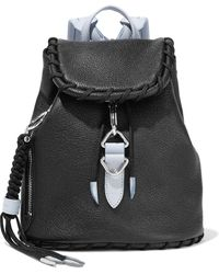 Acne Studios Whipstitched Textured-leather Backpack Black