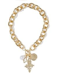 Kenneth Jay Lane Gold-plated Faux Pearl Necklace Gold - Metallic