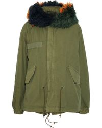 Mr & Mrs Italy - Shearling-trimmed Cotton-canvas Hooded Coat - Lyst