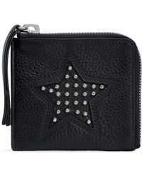 McQ - Studded Pebbled-leather Coin Purse - Lyst