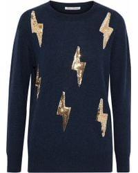 Autumn Cashmere - Sequin-embellished Cashmere Jumper - Lyst