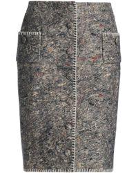 Moschino - Donegal Wool-blend Skirt - Lyst