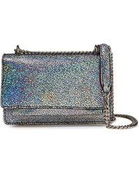 IRO Venice Holographic Suede Shoulder Bag Silver - Metallic