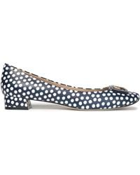 Tory Burch - Embellished Printed Leather Court Shoes - Lyst