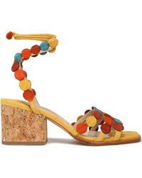 Paloma Barceló - Color-block Suede Sandals - Lyst
