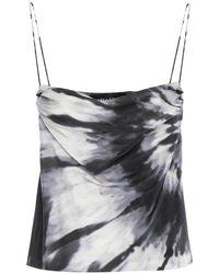 retroféte Retrofête Tie-dyed Stretch-silk Satin Camisole - Multicolour