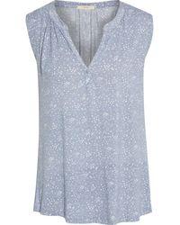 Eberjey Moon dots pyjama-oberteil aus jersey aus stretch-modal mit print - Lila