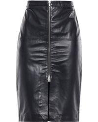 Muubaa Leather Pencil Skirt Black