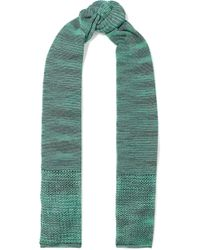 M Missoni - Open And Crochet-knit Scarf Jade - Lyst