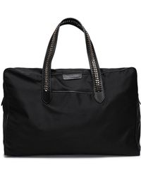 Stella McCartney Chain-trimmed Woven Weekend Bag Black