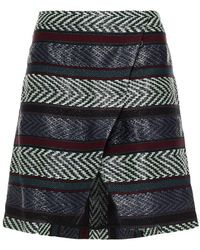 Hofmann Copenhagen Hedda Wrap-effect Jacquard Mini Skirt - Multicolour