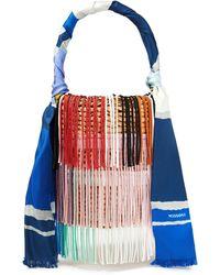 Missoni Fringed Crochet-knit And Braided Straw Bucket Bag - Multicolour