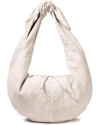 IRO Carrybearch Studded Suede Shoulder Bag - Natural