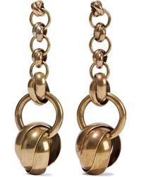 Zimmermann Burnished Gold-tone Earrings Brass - Metallic