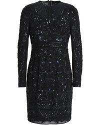Needle & Thread - Bead And Sequin-embellished Chiffon Mini Dress - Lyst