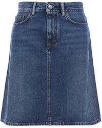 Acne Studios Shadow Denim Skirt Dark Denim - Blue