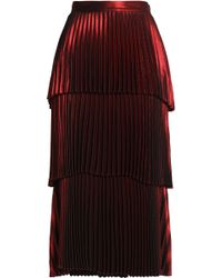 A.L.C. - Tiered Pleated Satin Midi Skirt - Lyst