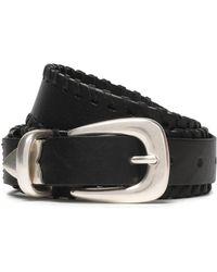Rag & Bone - Mckenzie Whipstitched Leather Belt - Lyst
