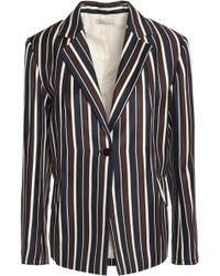 Nina Ricci - Striped Wool And Silk-blend Twill Blazer - Lyst