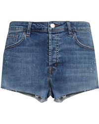 J Brand - Faded Denim Shorts Mid Denim - Lyst