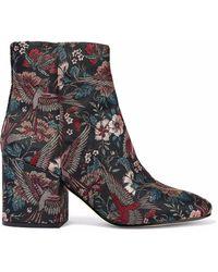 Sam Edelman - Taye Floral-jacquard Ankle Boots - Lyst