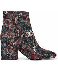 Sam Edelman Taye Metallic Jacquard Ankle Boots Multicolor