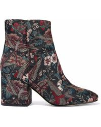 e0dff380b Sam Edelman  taye  Jewelled Insect Suede Ankle Boots in Black - Lyst