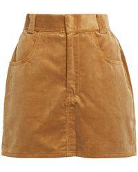 RE/DONE Cotton-corduroy Mini Skirt - Natural